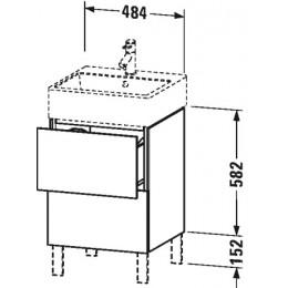 Duravit L-Cube LC677404040 Тумба напольная 48 см Черный глянцевый
