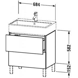 Duravit L-Cube LC677602222 Тумба напольная 68 см Белый глянцевый