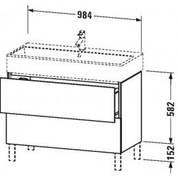 Duravit L-Cube LC677802222 Тумба напольная 98 см Белый глянцевый