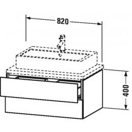 Duravit L-Cube LC683802222 Тумбочка для консоли 82 см Белый глянцевый