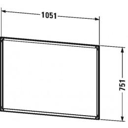 Duravit L-Cube LC968700000 Рама для встраивания с Touch LED 105 см