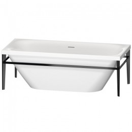 Duravit XVIU 700443000B20000 Ванна акриловая 180 см белый/черный