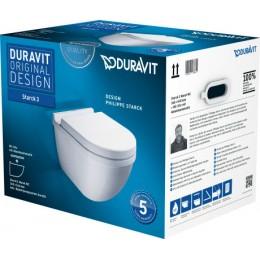 Duravit Starck 3 42250900A1 (222509+006389) Комплект: унитаз+сиденье белый