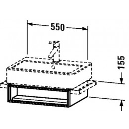 Duravit Vero VE600402222 Тумба подвесная 55 см Белый глянцевый