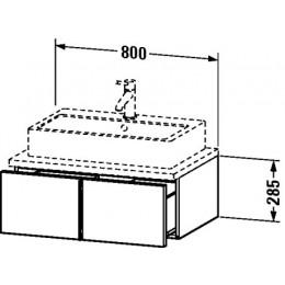 Duravit Vero VE655101212 Тумба подвесная 80 см Дуб брашированный
