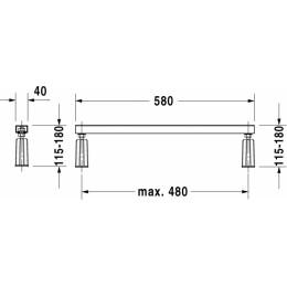 Duravit D-Code 790127000000000, Ножки для душевого поддона