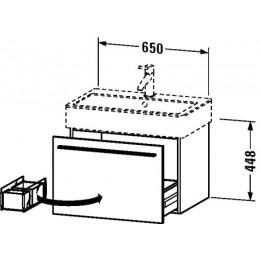 Duravit X-Large XL604202121 Тумбочка подвесная 65 см Орех темный
