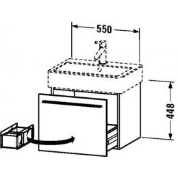 Duravit X-Large XL604402121 Тумбочка подвесная 55 см Орех темный