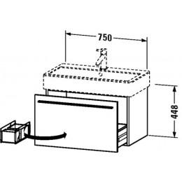 Duravit X-Large XL604502121 Тумбочка подвесная 75 см Орех темный
