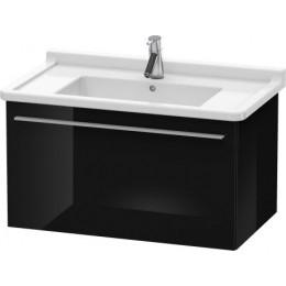 Duravit X-Large XL605704040 Тумбочка подвесная 80 см Черный глянцевый