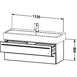 Duravit X-Large XL634702222 Тумбочка подвесная 115 см Белый глянцевый