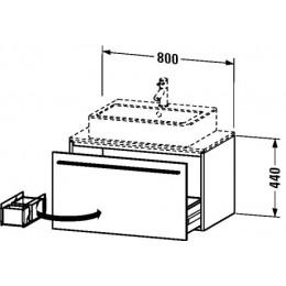 Duravit X-Large XL650100303 Тумба подвесная 80 см нефритовый глянцевый лаковый