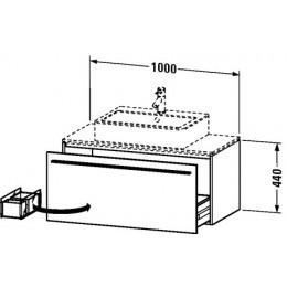 Duravit X-Large XL650202121 Тумба подвесная 100 см Орех темный