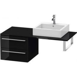 Duravit X-Large XL672304040 Шкаф для консоли 50 см Черный глянцевый