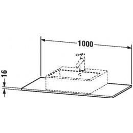Duravit XSquare XS060E02222 Консоль 100 см Белый глянцевый
