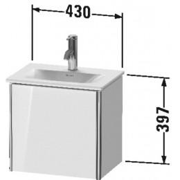 Duravit XSquare XS4220L2222 Тумба подвесная 43 см белый глянцевый