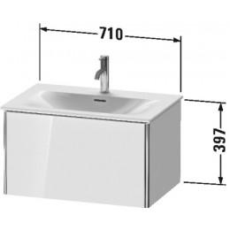 Duravit XSquare XS422302222 Тумба подвесная 71 см белый глянцевый