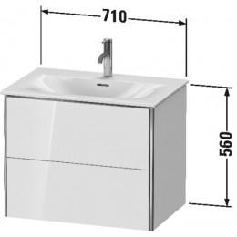 Duravit XSquare XS432302222 Тумба подвесная 71 см белый глянцевый
