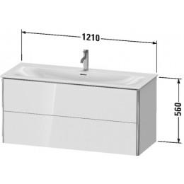 Duravit XSquare XS432602222 Тумба подвесная 121 см белый глянцевый