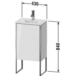 Duravit XSquare XS4520L2222 Тумба напольная 43 см Белый глянцевый