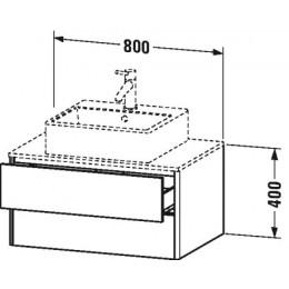 Duravit XSquare XS491002222 Тумба для подвесной консоли 80 см Белый глянцевый