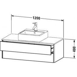 Duravit XSquare XS491202222 Тумба для подвесной консоли 120 см Белый глянцевый