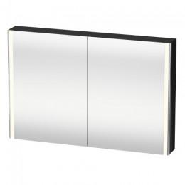 Duravit XSquare XS711404040 Зеркало с подсветкой 120 см Черный глянцевый