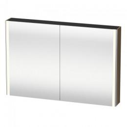 Duravit XSquare XS711406161 Зеркало с подсветкой 120 см Коричнево-оливковый глянцевый