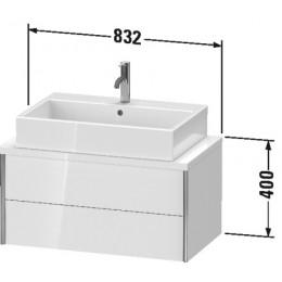 Duravit XVIU XV59070B122 Тумба для консоли 83 см Белый глянцевый