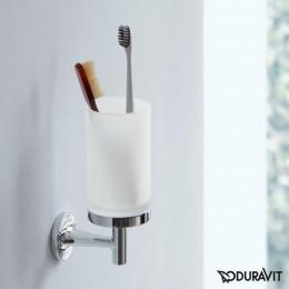 Duravit Starck T 0099311000 Держатель со стаканом для зубных щеток Хром