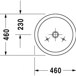Раковина на столешницу 46 см Duravit Starck-1 0445460000