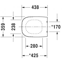 Крышка-сиденье для унитаза микролифт Duravit D-Code 0067390000