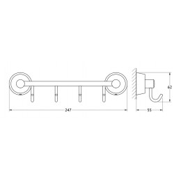 Ножки для тумбы Duravit L-Cube UV999300000 хром