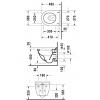 Duravit Starck 3 2227092000 Унитаз подвесной 36 см HygieneGlaze