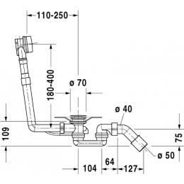 Слив-перелив для ванны хром Duravit Starck 79028500
