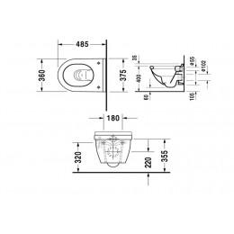 Duravit Starck 3 2227090000 Унитаз подвесной 36 см белый