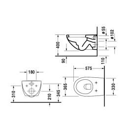 Duravit Architec 0069690000 Крышка-сиденье для унитаза микролифт