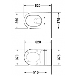 2533090000 Duravit Starck-2 Унитаз подвесной