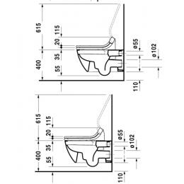 2550590000 Duravit Happy D.2 Унитаз подвесной