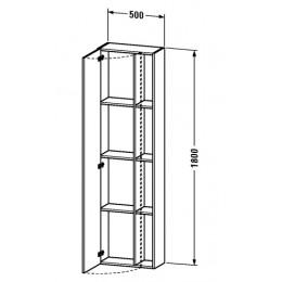 Duravit Durastyle DS1248L1818 Высокий шкаф 50 см Белый матовый