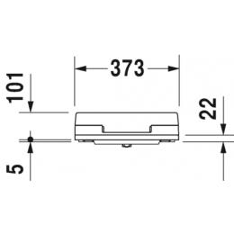 Крышка-биде для унитаза Duravit SensoWash Slim 611000002000300