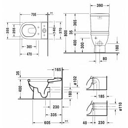 Крышка-сиденье для унитаза микролифт Duravit Starck 2 0063390000