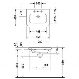 Duravit DuraStyle 2320800000 Раковина для мебели 80 см белый