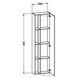 Duravit Durastyle DS1248L5353 Высокий шкаф 50 см Каштан темный