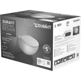 Duravit Architec 45720900A1 Унитаз подвесной Rimless  в комплекте с сидением Soft Close
