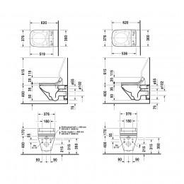 Duravit DuraStyle 2542590000 Унитаз подвесной Rimless для SensoWash белый