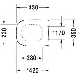 Крышка-сиденье для унитаза стандарт Duravit D-Code 0067310000
