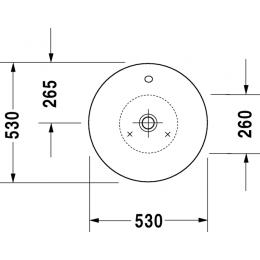 Раковина на столешницу 53 см Duravit Starck-1 0408530000
