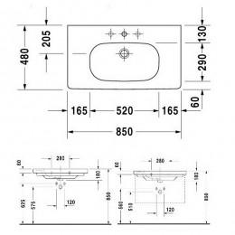 Duravit XBase Тумба  белый матовый 80 см с раковиной XB619001818 + 03428500002