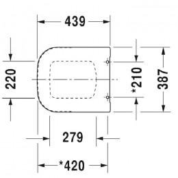 Duravit P3 Comforts 0020410000, Сиденье для унитаза, цвет хром